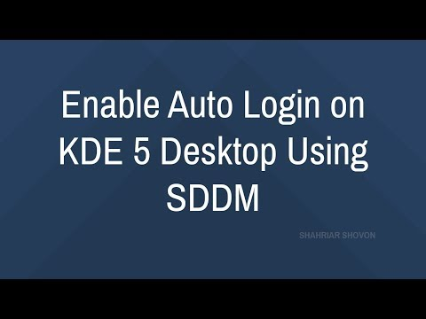 Enable Auto Login on KDE 5 Desktop Using SDDM