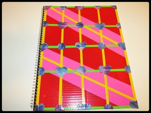 Duct Tape Notebook   Back to School Craft   Duck Tape