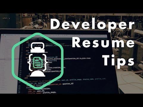 Developer Resume Tips