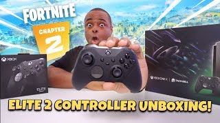 Xbox ELITE Controller SERIES 2 Unboxing & Fortnite Gameplay + Xbox One X Eclipse Limited Edition