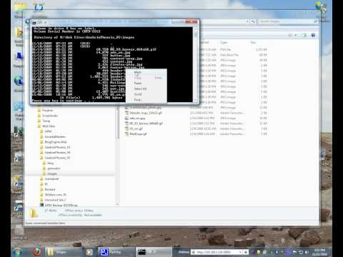 How to use the Command Prompt and Open Command Window Here in Windows 7.avi