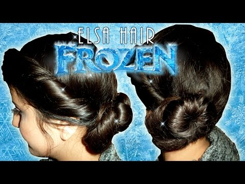 Frozen Elsa's Coronation Twisted Up-Do Hairstyle Tutorial