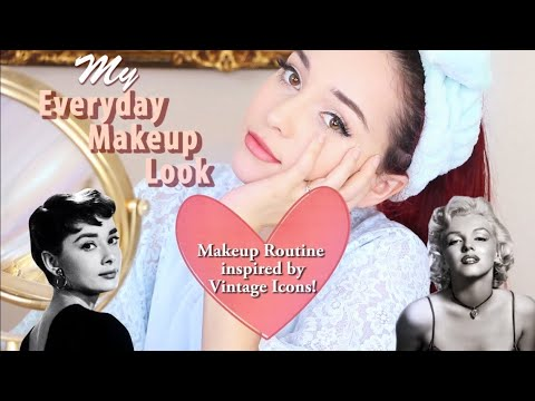 My Everyday Makeup Routine (Vintage Inspired)   Get Ready With Me!