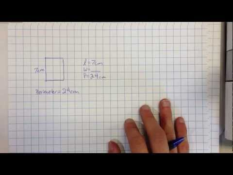 Using equations to find the length or width of a rectangle when given the perimeter or area