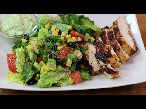 Southwestern Chicken Salad - How to Make Southwestern Chicken Salad with Creamy Avocado Dressing