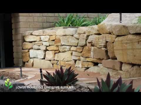 Sandstone Retaining Walls   Lower Mountains Landscape Supplies
