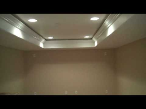 Colorado Basement Finishing T.V. Greater Heights with Tray Ceilings