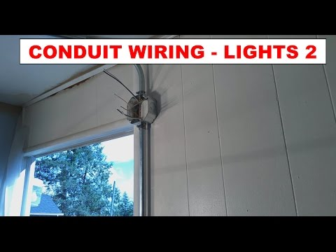 DIY - How To: Simple Wiring Light Addition in Conduit - Power through Lights to Switch - Pt. 2