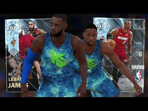 DIAMOND LEBRON & WADE DYNAMIC DUO GAMEPLAY!! BEST DUO! (NBA 2K18 MYTEAM)