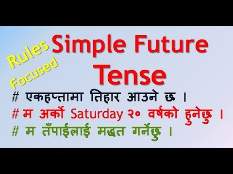 Simple Future Tense  Part 1 (English Language Grammar) in Nepali