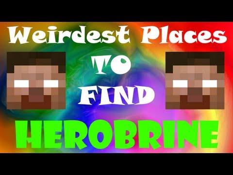 5 Weirdest Places to find Herobrine - Minecraft