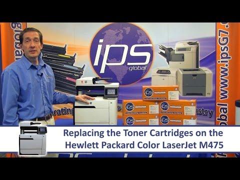 HP M475 - Replacing the Toner Cartridges