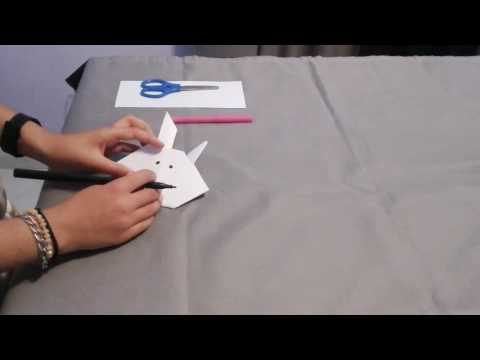 How to make a paper Easter Bunny