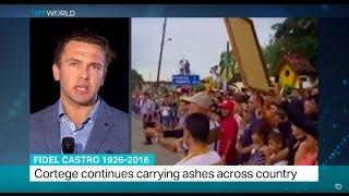 Fidel Castro 1926-2016: Cortege continues carrying ashes across country