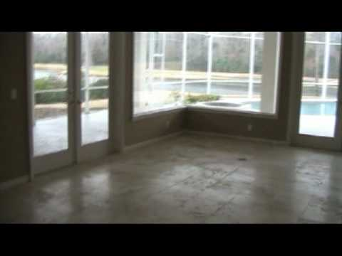 Limestone floor grinded,honed and sealed