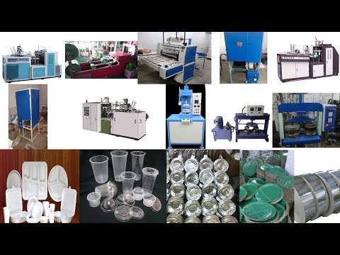 ALL TYPES OF MACHINES FOR PAPER PLATE, THALI, GLASS, DONA MAKING & PVC GLASS & THERMACOL PRODUCTS