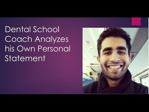 Dental School Coach Personal Statement Analyzed (AADSAS)
