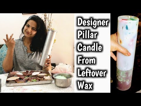 Pillar Candle From Leftover Wax