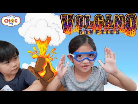 DIY VOLCANO ERUPTION with DINOSAURS | EASY VOLCANO  EXPLODING KIT SCIENCE  EXPERIMENT for KIDS