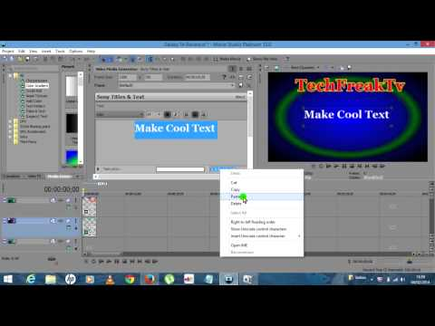 How To Make A Cool Intro With Movie Studio Platinum 12