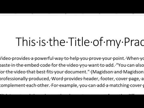 Creating Citations and a Bibliography in Word (Word Module 2 Lab 1 Part 1)