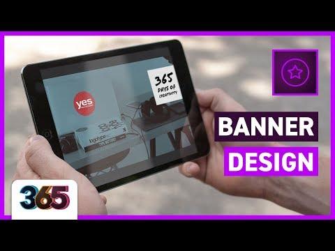 💻 Banner Design   Adobe Spark Tutorial #73/365 Days of Creativity