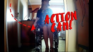 I strapped an action cam to my wheelchair!