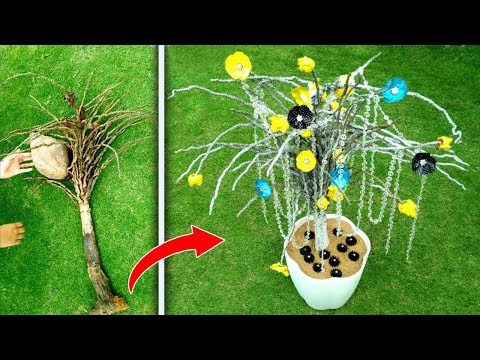 How to make home decor idea with coconut branch | Best DIY