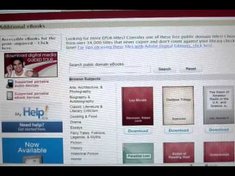 Downloading Library E-Books to your E-Readers