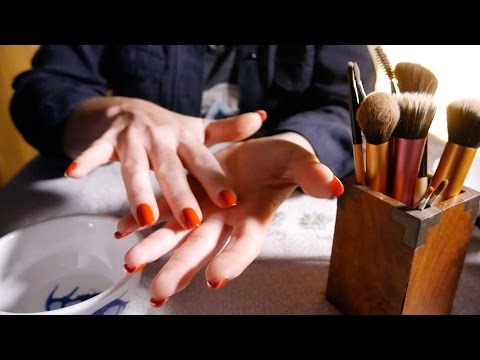Relaxing Brush Cleaning | ASMR Hands, Slight Tapping & Tinkles
