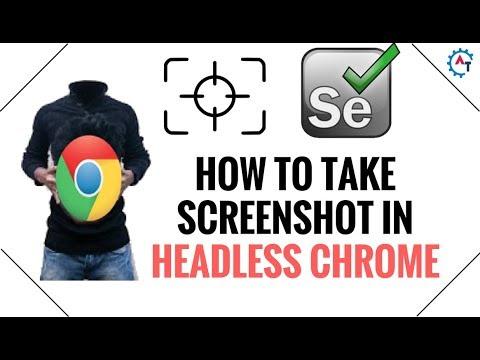 How to take Screenshot in Headless Chrome Browser