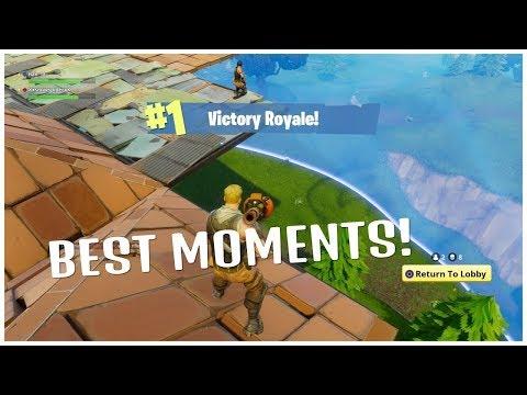 5min of fortnight battle royal rocket riding breaking longest building summit1g funny compilation