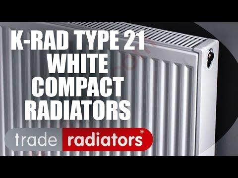 K-Rad White Double Panel Single Convector Compact Radiators - Type 21 | Trade Radiators