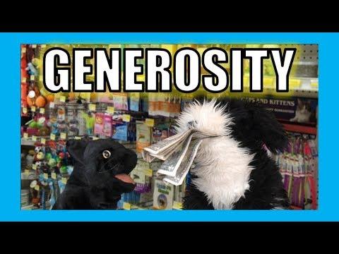 Generosity:  George the Self Esteem Cat
