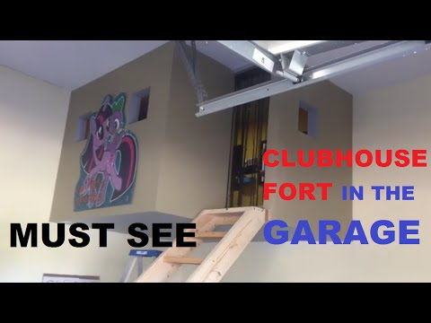 How To Make A homemade Clubhouse In The Garage do it yourself Tree Home Kids Playroom cave fort