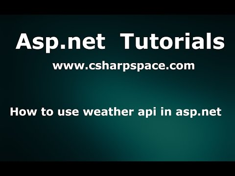 How to use weather api in asp.net