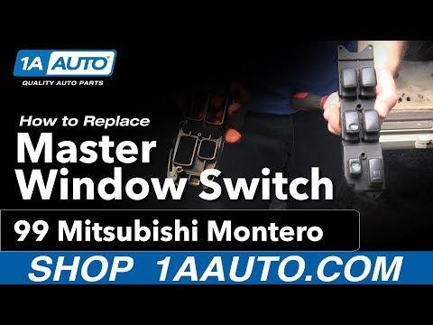 How to Replace Master Window Switch 92-99 Mitsubishi Montero