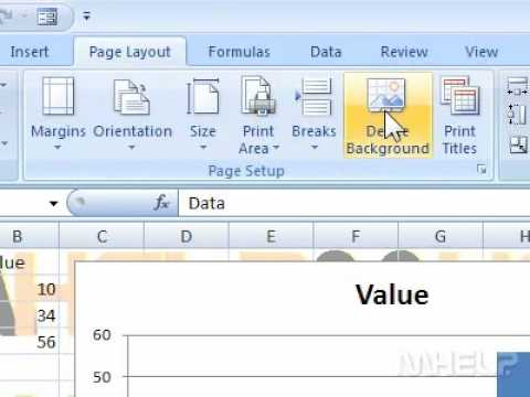 How to remove a sheet background pattern in Excel