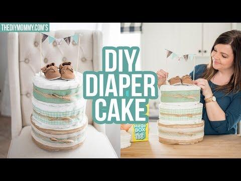 How to Make a Diaper Cake | Step By Step Tutorial