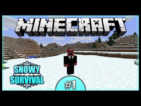 Custom Terrain Generator! Endless Snow World! || Minecraft Snowy Survival (14w17a) [Episode 1]