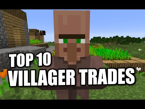 Minecraft  - TOP 10 VILLAGER TRADES ( PS3 / XBOX / PS4 / PC ) WII