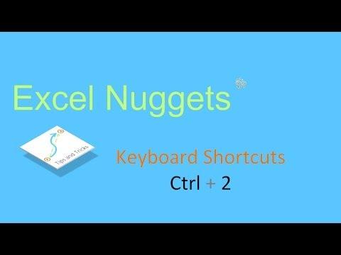 Excel 2010 Shortcut - Formatting Text as Bold: Ctrl + 2