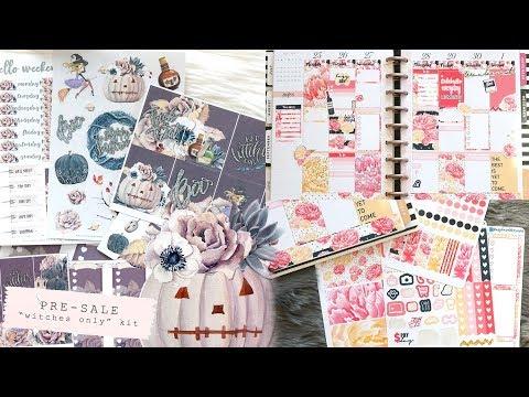 PRE-SALE Halloween Stickers! • Plan With Me Raspberyl Designs