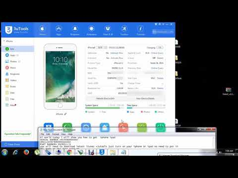 HOW TO GET IPHONE IPAD IMEI+SERIAL NUMBER +AND PART NUMBER