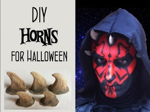Tutorial : How to make DIY Horns for Halloween Makeups / Costumes !