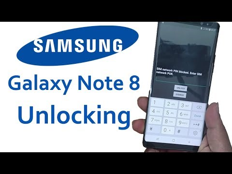 Unlock Samsung Galaxy Note 8 SIM Network Unlock PIN Blocked Enter Sim Network Unlock PUK