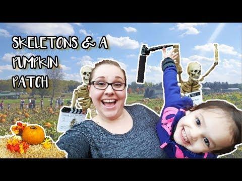 Skeletons & Pumpkin Patches! | family vlog