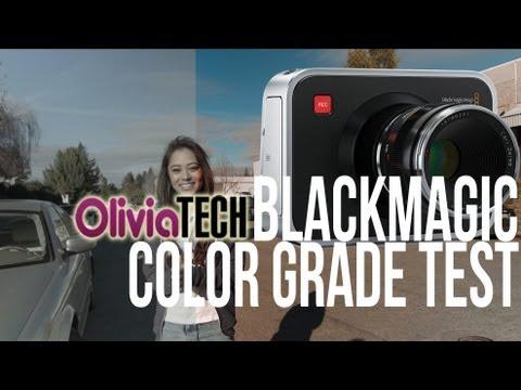 Blackmagic Cinema Camera Color Test
