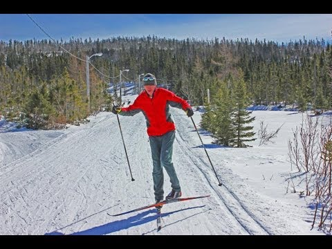 Cross country skiing balance exercises on downhills