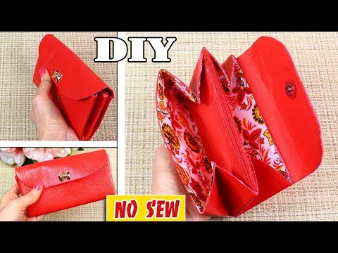 DIY Woman Wallet Tutorial with Zipper Pocket Inside • from Old Bag
